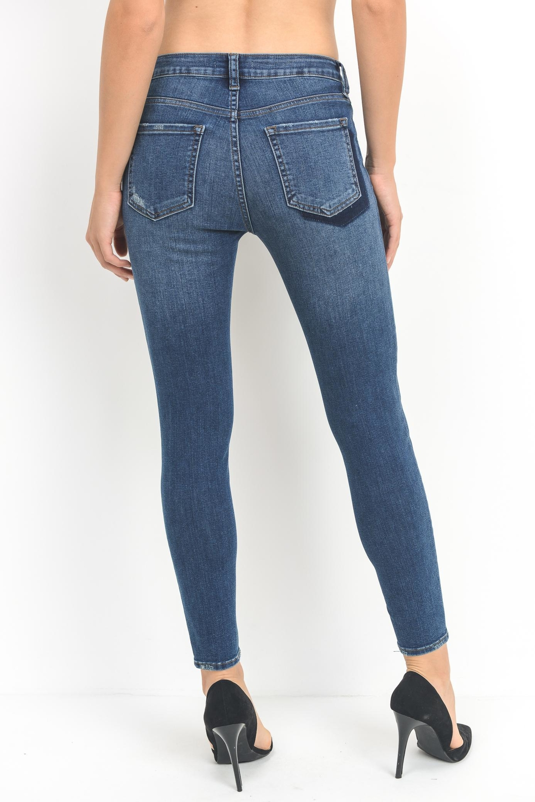 just black Shadow Skinny Jean - Side Cropped Image