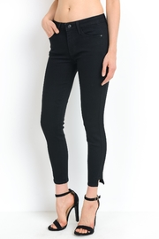 just black Side Panel Skinny Jeans - Product Mini Image