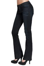 just black Skinny Bootcut Jean - Front full body
