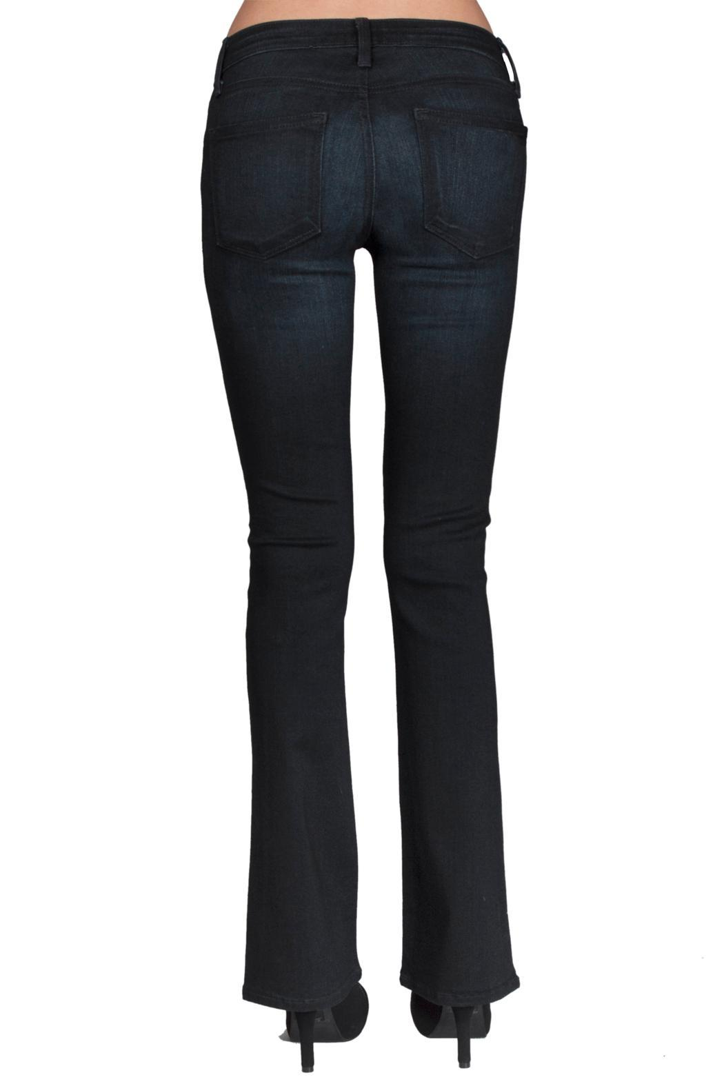 just black Skinny Bootcut Jean - Side Cropped Image