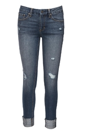 just black Slim Straight Denim Jeans - Product Mini Image