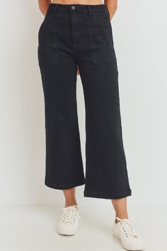 just black The Harlow Black Denim Pant (Usa Made, High Rise) - Product List Image