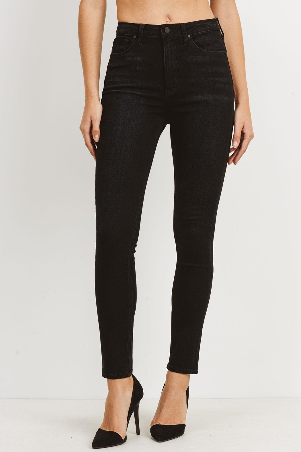just black Washed High-Rise Jeans - Main Image