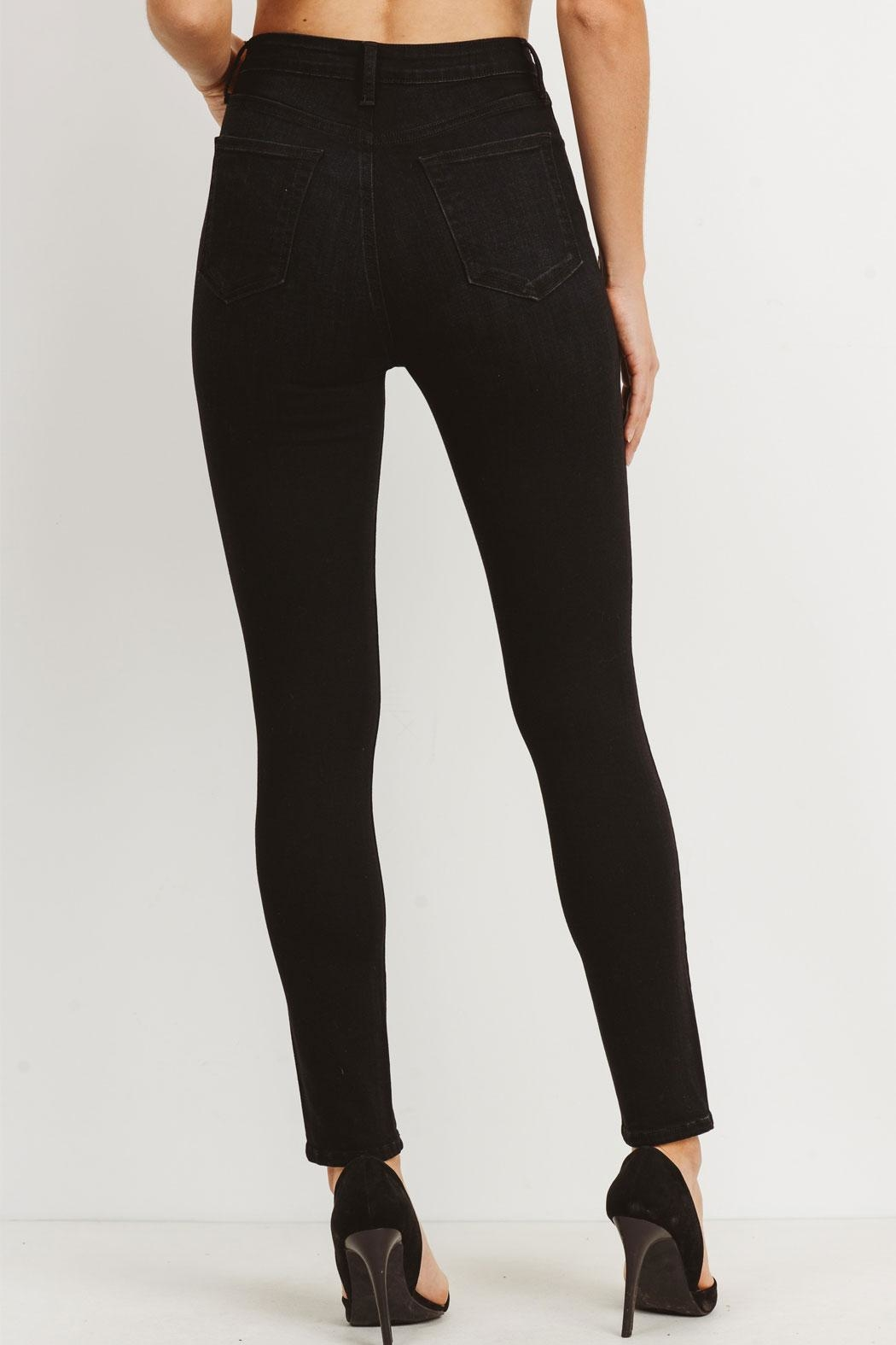 just black Washed High-Rise Jeans - Front Full Image