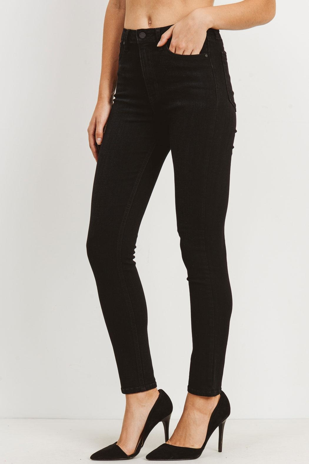 just black Washed High-Rise Jeans - Side Cropped Image