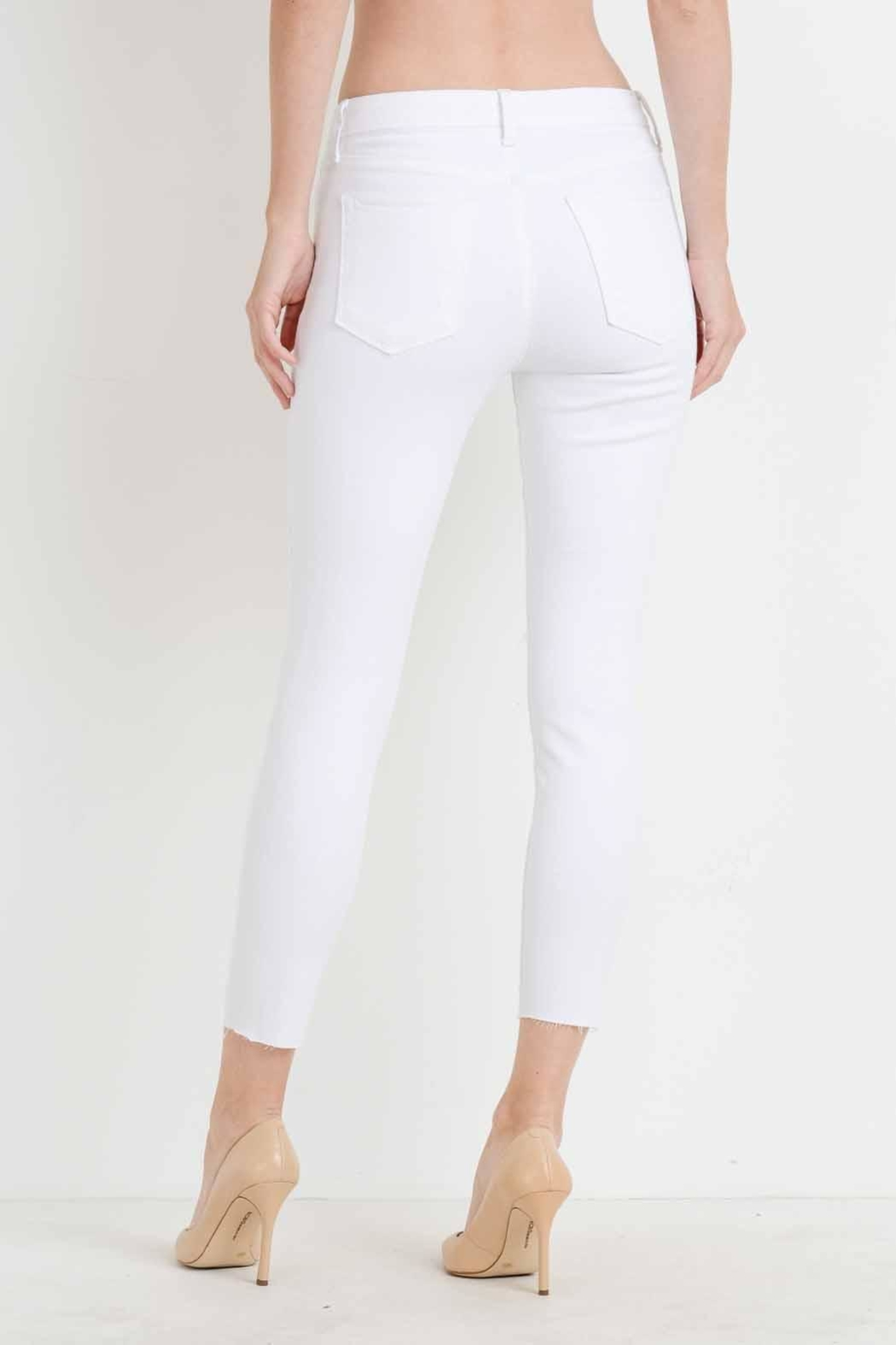 just black White Distressed Skinny Jean - Side Cropped Image