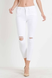 just black White Distressed Skinny Jean - Front cropped
