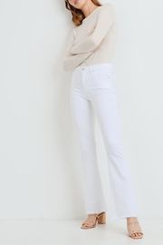 just black White Flare Jeans - Product Mini Image