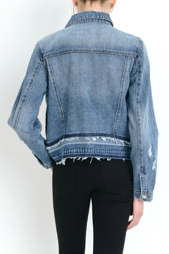 just black Destroyed Denim Jacket - Alternate List Image