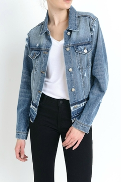 just black Destroyed Denim Jacket - Product List Image