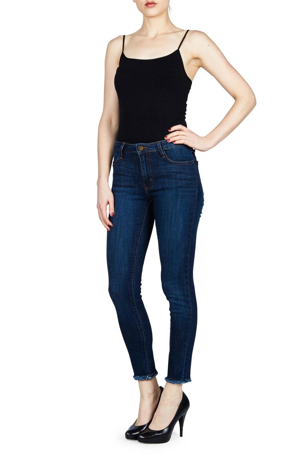 just black Frayed Jeans - Front Cropped Image