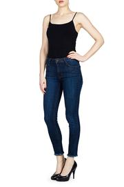 just black Frayed Jeans - Front cropped