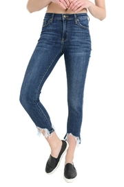 just black High Rise Shark Jeans - Front cropped