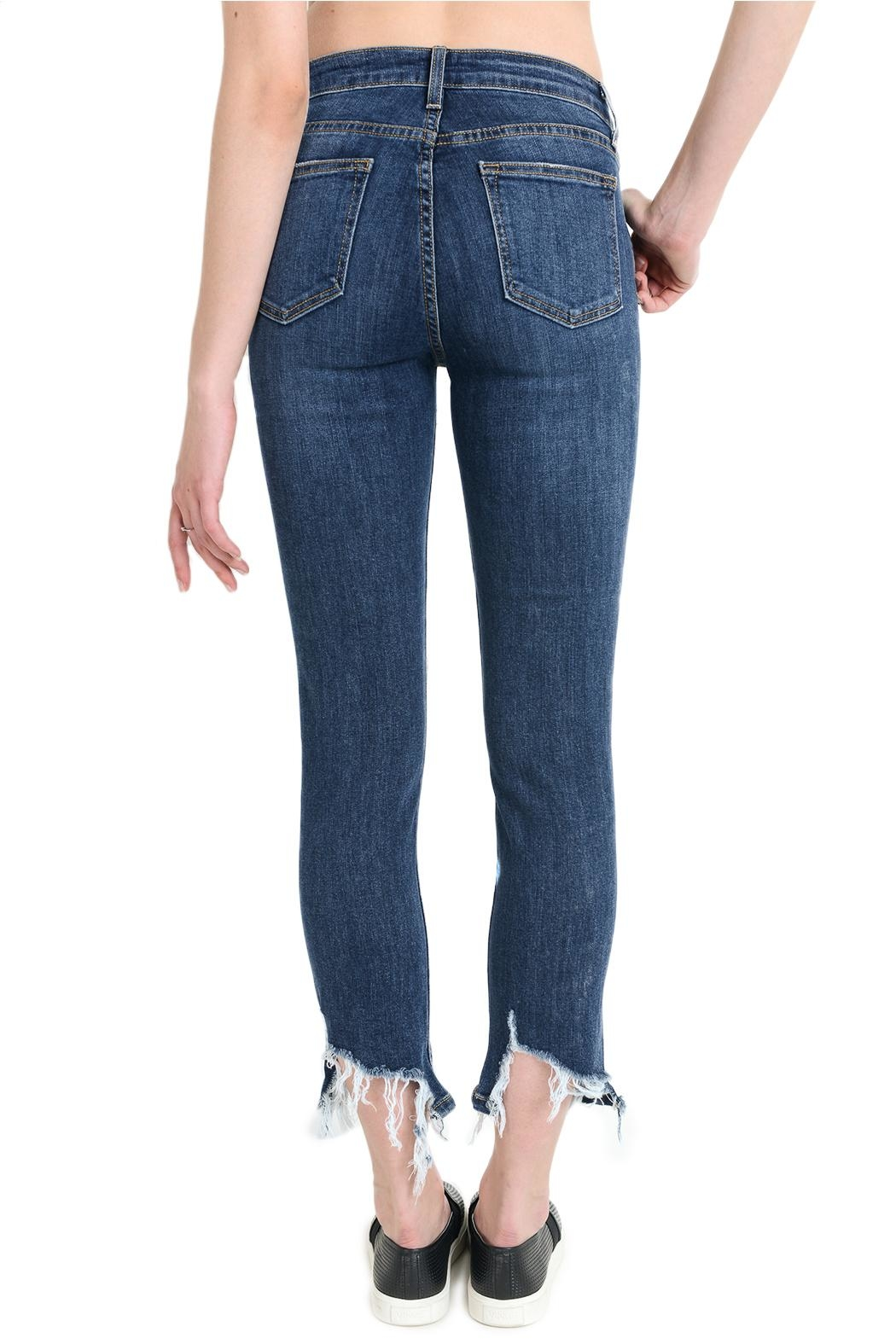 just black High Rise Shark Jeans - Side Cropped Image