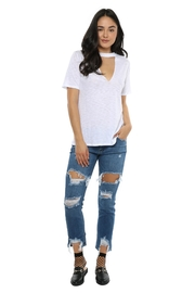 just black Super Destroyed Denim Jeans - Product Mini Image