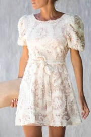 Just Me 3d Lace Dress - Front cropped