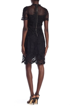 Just Me Black Fishnet Lace Dress - Alternate List Image
