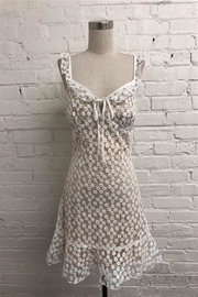 Just Me Floral Embroidered Dress - Product Mini Image
