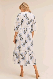 Just Me Floral Embroidered Dress - Front full body
