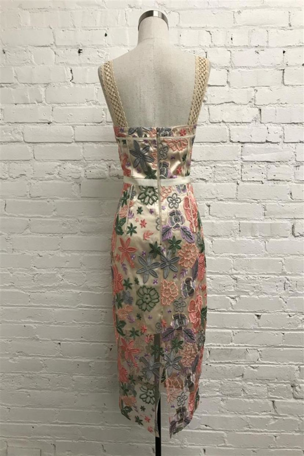 Just Me Floral Midi Dress - Front Full Image
