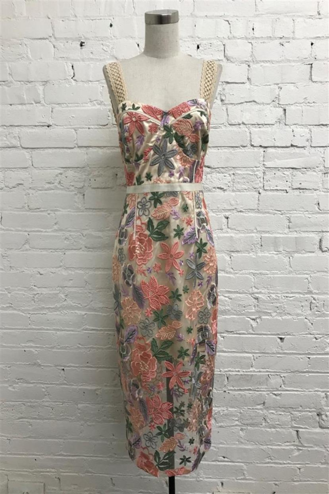 Just Me Floral Midi Dress - Main Image