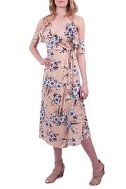 Just Me Floral Wrap Dress - Product Mini Image