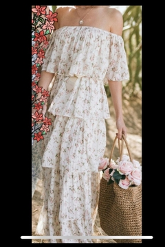 Just Me Off-Shoulder Floral Maxi - Alternate List Image