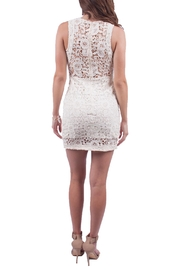 Just Me Off White Lace Dress - Side cropped