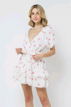 Just Me Puff-Sleeve Floral Dress - Product List Image