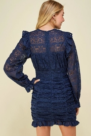 Just Me Puff-Sleeve Lace Dress - Front full body