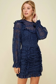 Just Me Puff-Sleeve Lace Dress - Product Mini Image