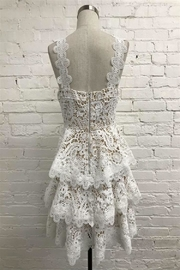 Just Me Tiered Lace Dress - Front full body