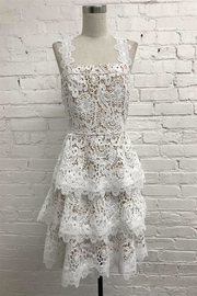 Just Me Tiered Lace Dress - Product Mini Image