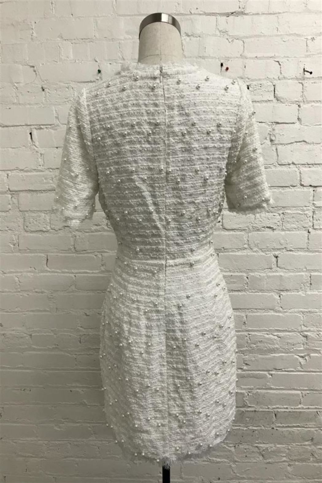 Just Me Tweed Mini Dress - Front Full Image