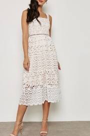 Just Me White Overlay Dress - Front cropped