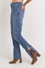 Just Panmaco Inc. Frayed Side Slit Jeans - Product Mini Image