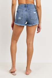 Just Panmaco Inc. High-Rise Destroyed Shorts - Back cropped