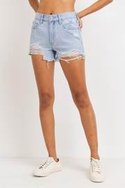 Just Panmaco Inc. High-Rise Destroyed Shorts - Front cropped