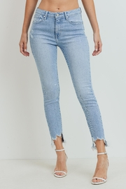 Just Panmaco Inc. High Rise Frayed End Skinny Jeans - Product Mini Image