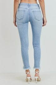 Just Panmaco Inc. High Rise Frayed End Skinny Jeans - Side cropped