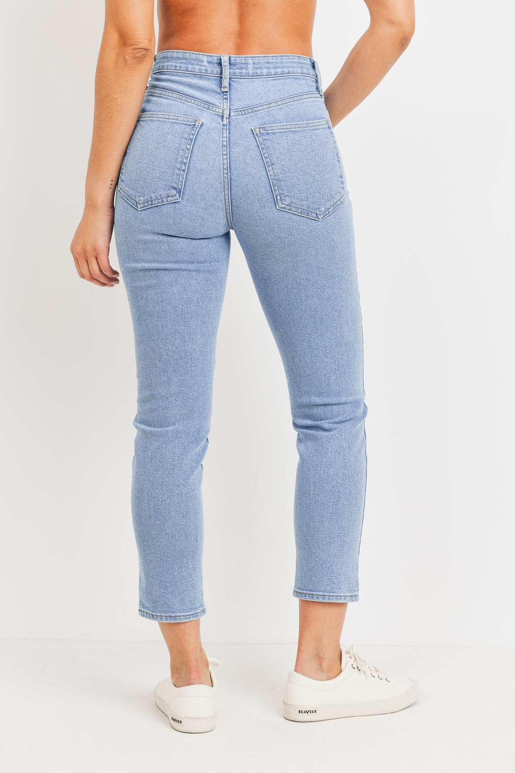 Just Panmaco Inc. High Rise Mom Denim Jeans - Side Cropped Image