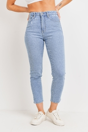 Just Panmaco Inc. High Rise Mom Denim Jeans - Front cropped