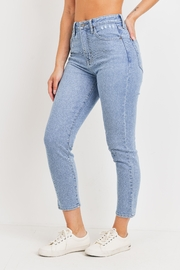 Just Panmaco Inc. High Rise Mom Denim Jeans - Front full body