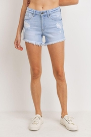 Just Panmaco Inc. Mid Rise Distresed Short - Front cropped