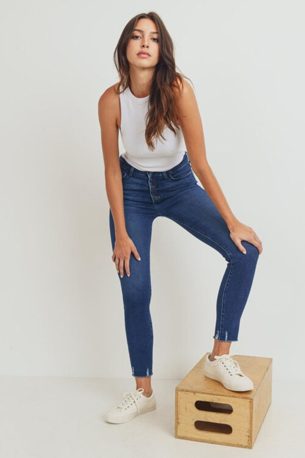 Just Panmaco Inc. Skinny Button-Up Jeans - Main Image