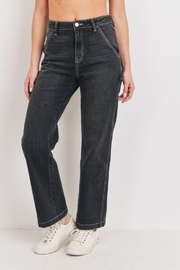 Just Panmaco Inc. Washed Black Carpenter Jean - Front full body