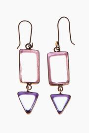 Just Tantau 2-Piece Lavender Beachglass Earrings - Product Mini Image