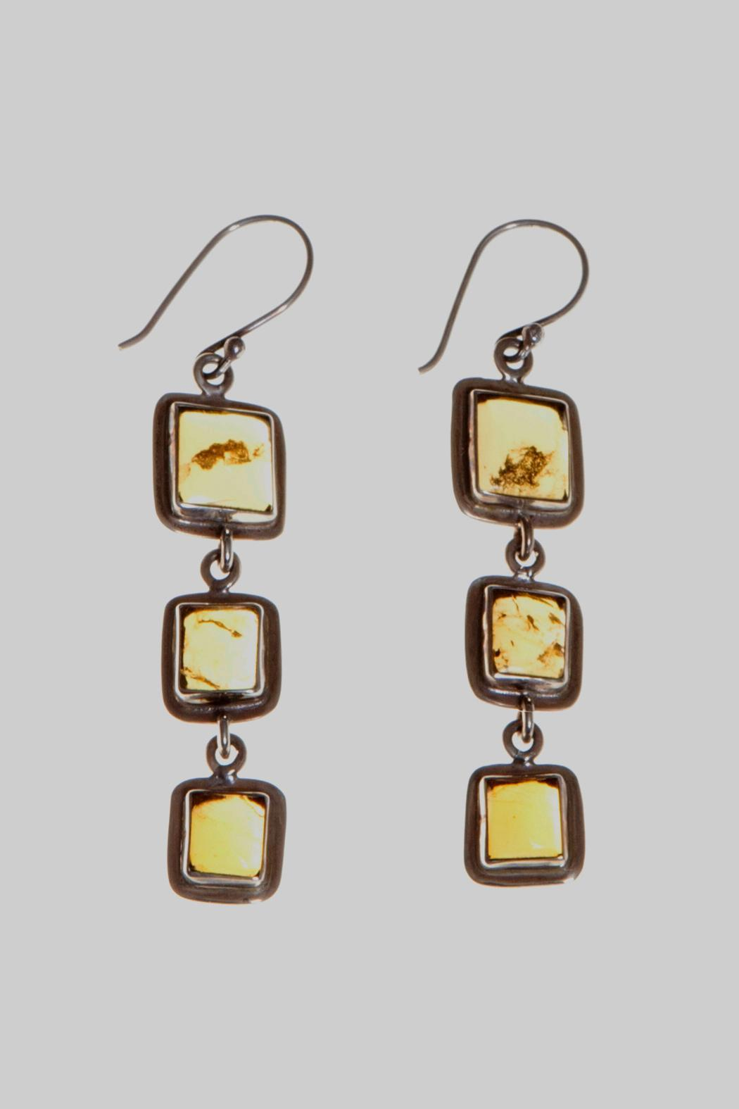 Just Tantau 3-Piece Amber Earrings - Front Cropped Image