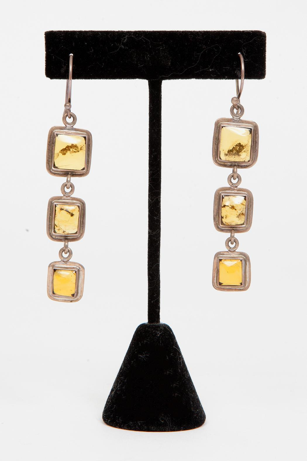 Just Tantau 3-Piece Amber Earrings - Front Full Image