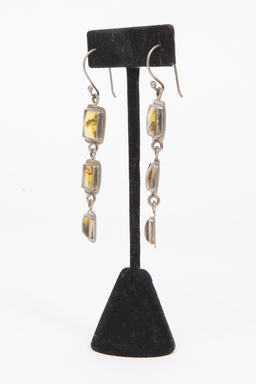 Just Tantau 3-Piece Amber Earrings - Side Cropped Image
